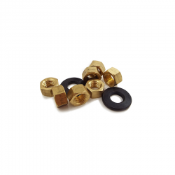 Exhaust manifold brass nut and bevel washer set