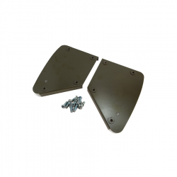 Ford GPW Willys MB.Hip Pad Metal Plates Complete With Fixing Screws  (pair)