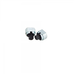 Floor drain plugs with clinch nuts