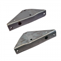 Joe's Motor Pool Bolt On Toolbox to Rear Panel Triangle Gusset set for Ford GPW, Willys MB Slat & MB