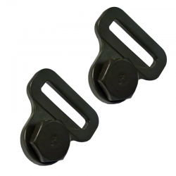 Joe's Motor Pool F Marked Late Safety Strap Buckle & Anchor Bolt set for Ford GPW